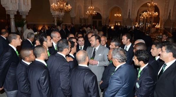 الاستقبال الملكي الذي حظي به الفريق الأخضر