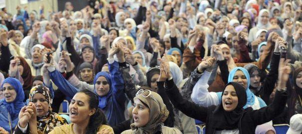 rassemblement islamistes femmes