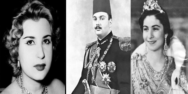 الملك فاروق بين زوجته فريدة التي أصبحت تبيع لوحاتها في شوارع أروبا، و زوجته ناريمان التي رفعت ضده دعوى المطالبة بالنفقة.