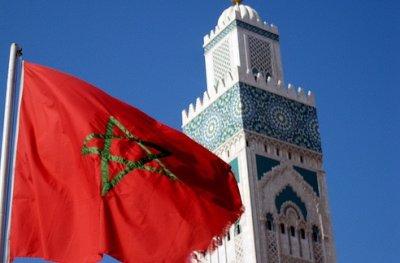 maroc drapeau mosquee