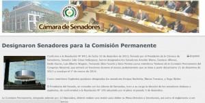 موقع مجلس الشيوخ في الباراغواي يتحدث عن إلياس ومن معه كممثلين للحكومة
