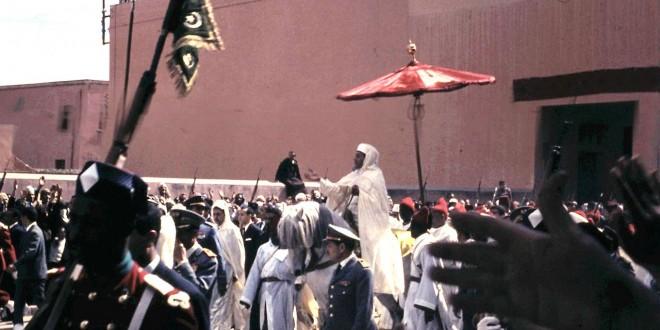 حفل الولاء والبيعة للحسن الثاني في مراكش، 1966.
