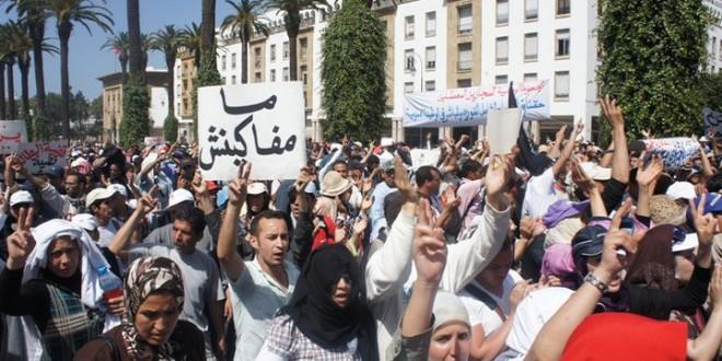 jeunes protestent maroc