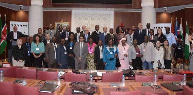 الحاضرون في مؤتمر الاتحاد الإفريقي للبرلمانيين الشباب
