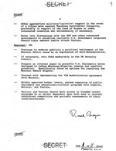 الصفحة الأخيرة من الوثيقة الأمريكية حيث تم التطرق فيها لموضوع الفيتو الأمريكي