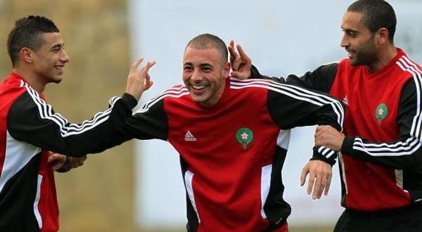 equipe nationale maroc entraienement