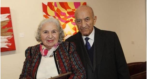 القطب الاتحادي عبد الرحمن اليوسفي رفقة زوجته هيلين