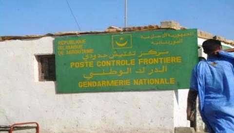 مركز تفتيش حدودي بموريطانيا
