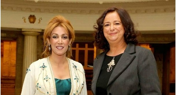 سميرة القادري رفقة سفيرة المغرب ببلغاريا لطيفة أخرباش