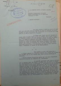 مقدمة التقرير الذي أعده القنصل الفرنسي بالقنيطرة و بعث به إلى سفير بلاده بتاريخ 15 ماي 1959