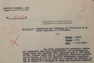 """صفات المخبر """"المغربي"""" لدى فرنسا في الوثيقة الفرنسية"""
