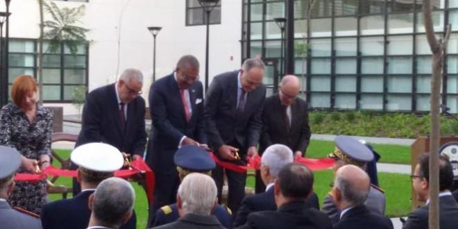 السفير الأمريكي دوايت بوش يقص مع بنكيران ومزوار وولعلو شريط المقر الجديد لسفارة بلاده