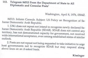 بلاغ رسمي من وزير الخارجية الأمريكي إلى سفراء بلاده بخصوص عدم الاعتراف بالبوليساريو