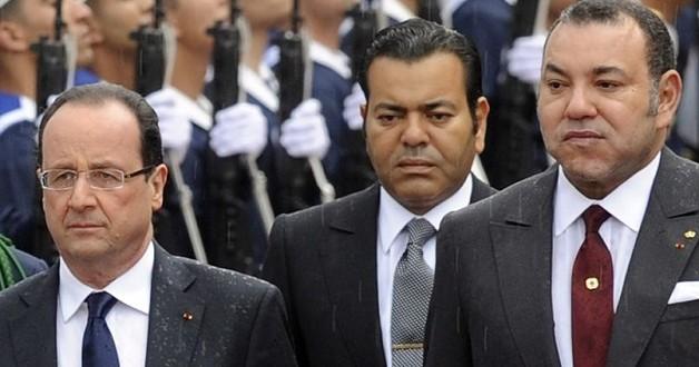 الملك محمد السادس رفقة الرئيس الفرنسي فرانسوا هولند