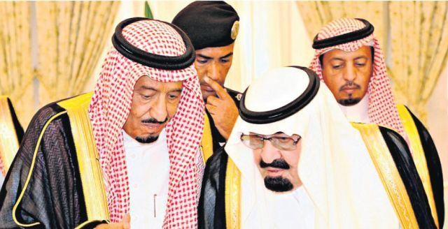 المرحوم الملك عبد الله رفقة ملك السعودية الجديد بن عبد العزيز