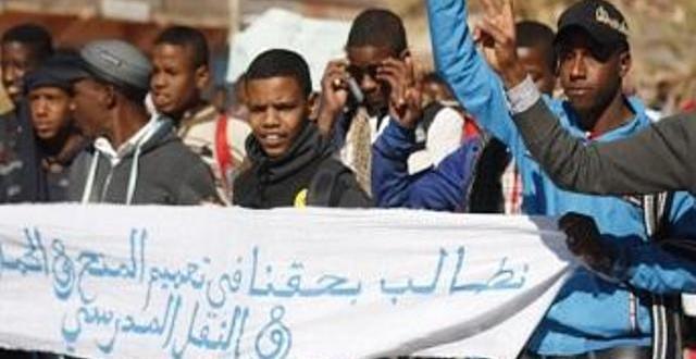 """جانب من الاحتجاجات التي شهدتها جماعة """"تيسينت"""""""