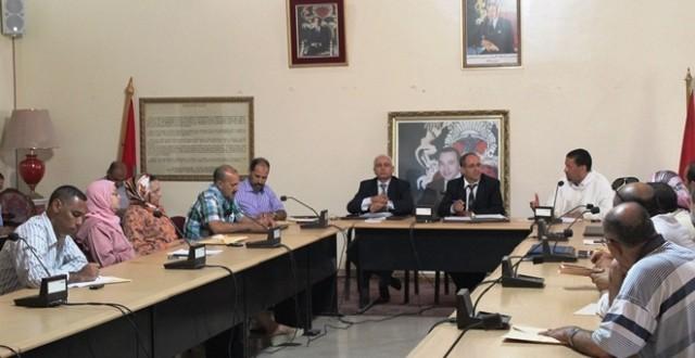 جانب من أشغال الدورة العادية للمجلس الإقليمي بعمالة سطات