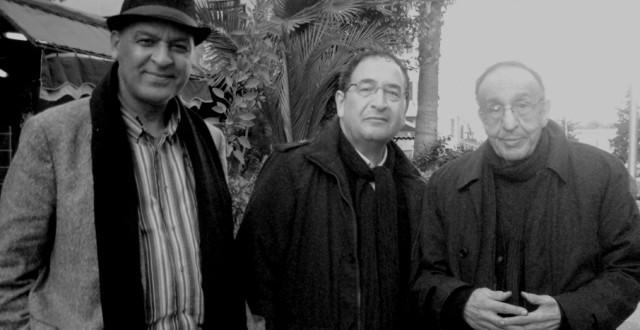 """المخرج الفرنسي """"جان بيير كرييف"""" يتوسط إدوارد موحا وعبد الرحيم التوراني"""