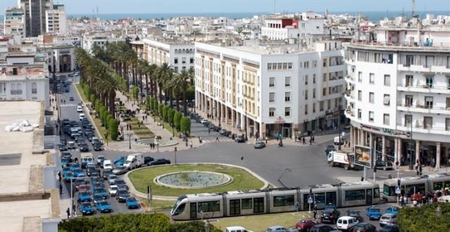 شارع محمد الخامس أحد أكبر شوارع الرباط