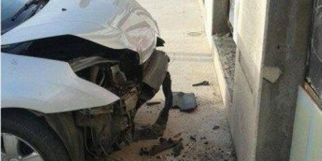 صورة لحادثة السير التي وقعت