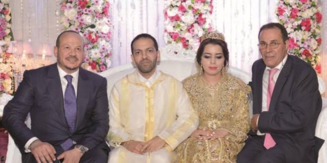فؤاد الهمة وحسن الدرهم مع العروسين ليلى وعمر