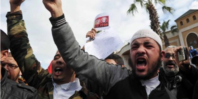 مظاهرة سابقة لمجموعة من السلفيين