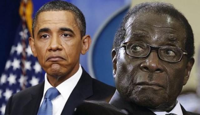 رئيس زيمبابوي روبرت موجابي و أوباما