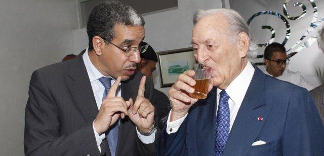 وزير التجهيز الرباح مع  عثمان بن جلون
