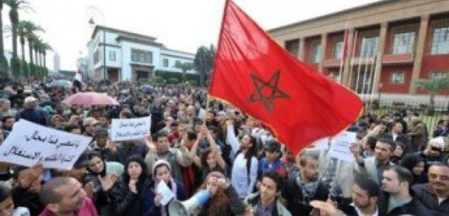 جانب من مظاهرات الربيع العربي في المغرب