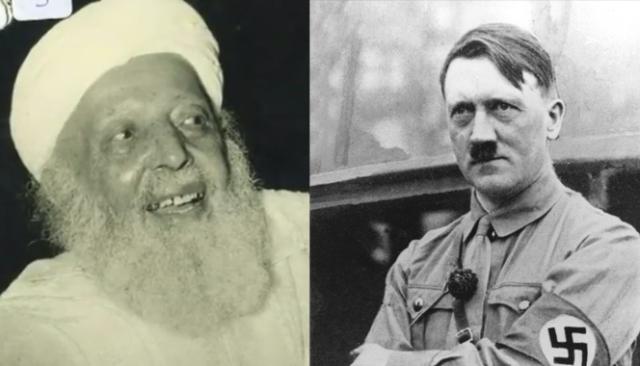 صورة مركبة للفقيه بلعربي العلوي وهتلر