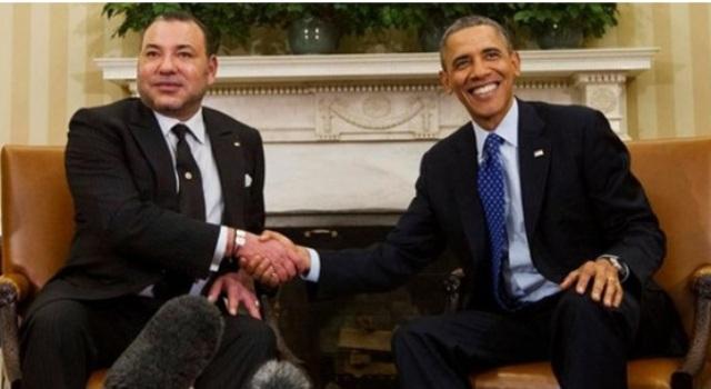 الملك مع أوباما   العقباني