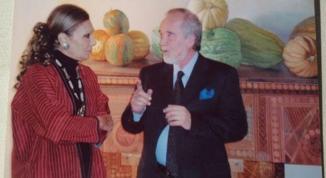 الثري كلوديو برافو مع الإمبراطورة فرح ديبا