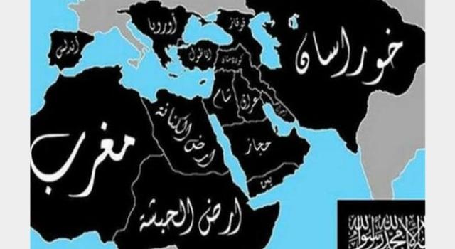 خريطة الدولة التي يحلم بها الداعشيون