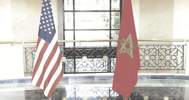 maroc usa drapeaux