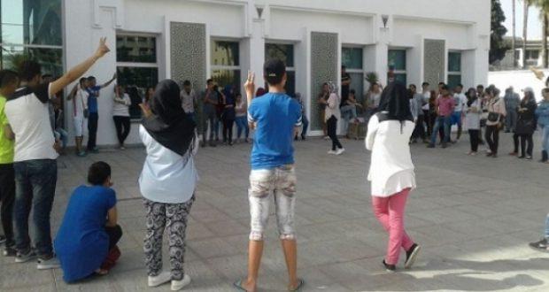 توقيف مجموعة من الطلبة القاعديين بعد تجسيدهم لوقفة احتجاجية