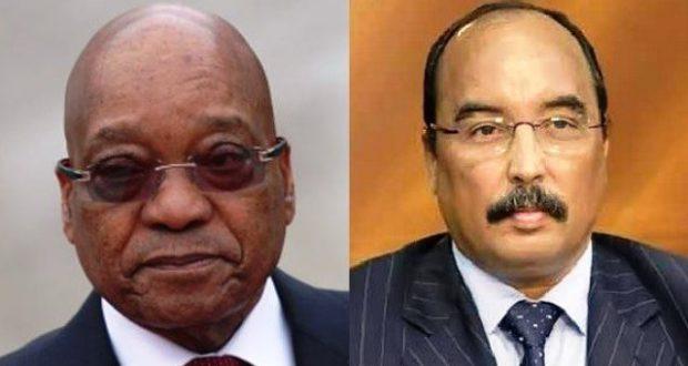 رئيس الجنوب إفريقي السيد و رئيس موريتانيا محمد ولد عبد العزيز