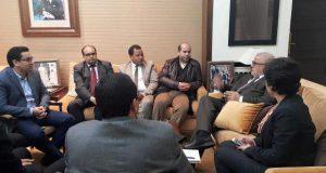 ممثلو الشبيبات الحزبية خلال لقاء سابق مع بن كيران