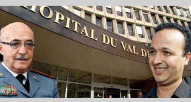 الجنرال عبد العزيز بناني والقبطان السابق أديب بباب المستشفى الذي اتهم أديب باختراقه
