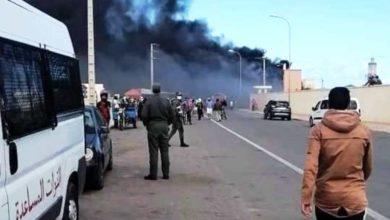 Photo of حريق سبعة أكشاك في العيون