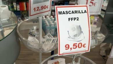 Photo of بالتزامن مع الشروع رفع حالة الطوارئ… جدل في إسبانيا بعد ارتفاع ثمن الكمامات بالصيدليات