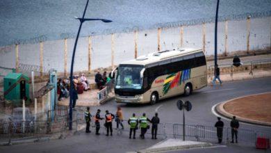 Photo of تسريب أشخاص مجهولين عبر حافلات نقل المغاربة العالقين في سبتة